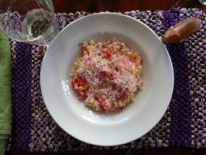 corn tomato basil risotto