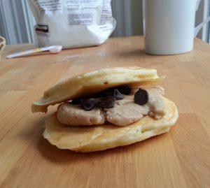 pancake frosting sandwich