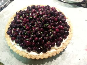 honey blueberry tart