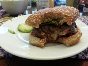 stuffed cheeseburger