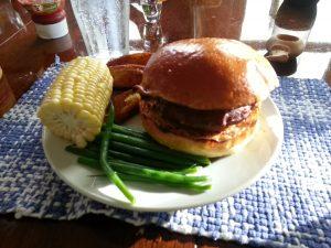 sous vide stuffed burger